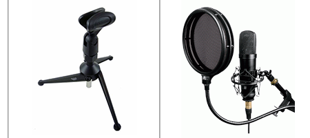 May be a challenge to attach a pop filter on a table stand