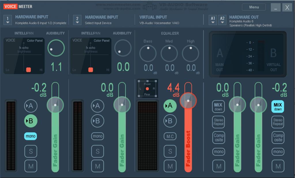 how to change how loud my audio input s