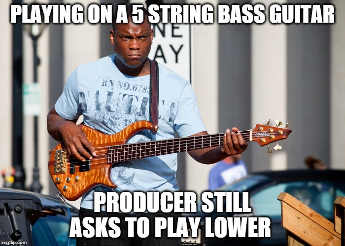 How low can a bass guitarist play?