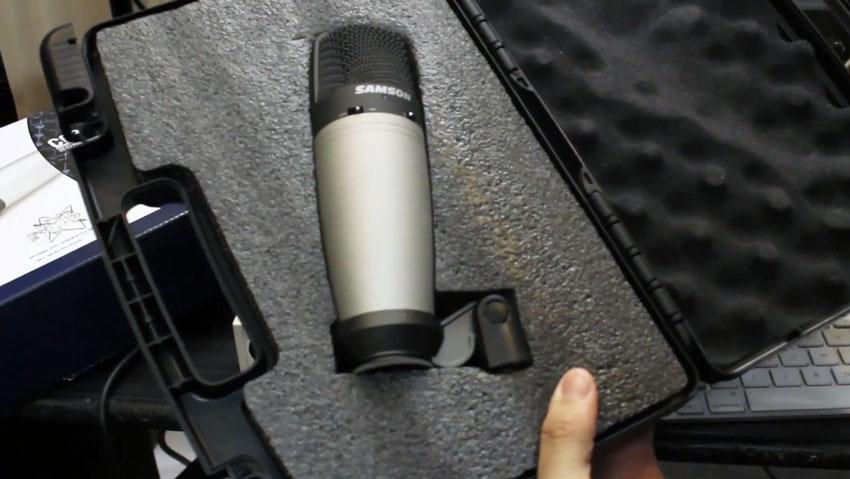 samson co3 condenser microphone case