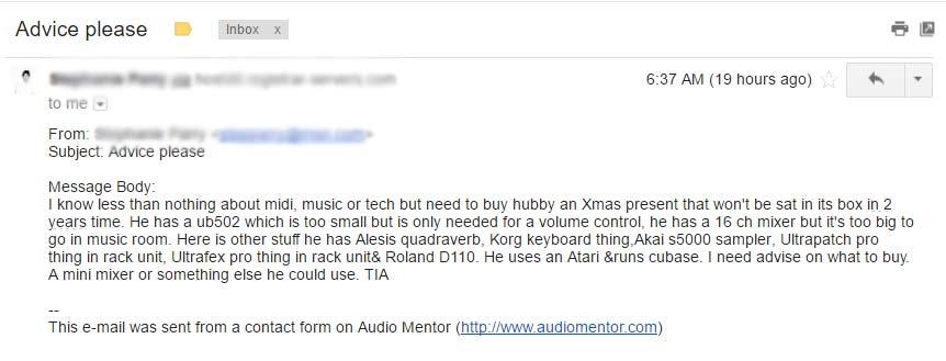 Advice for music gear as a Christmas gift?