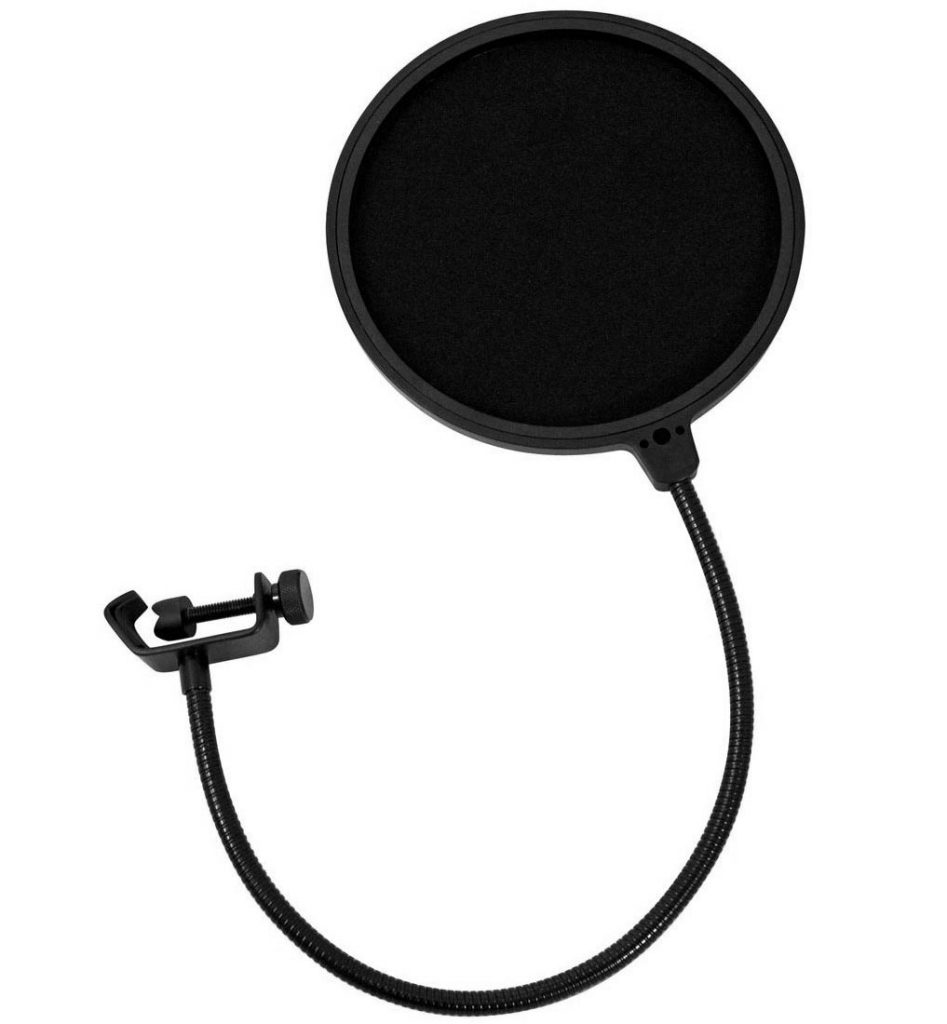 A pop filter is a must have in any recording studio that records vocals