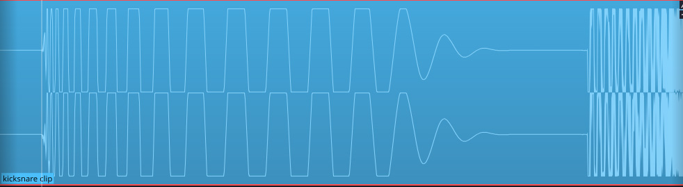 Clipped waveform